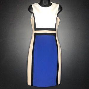 Calvin Klein Colorblock Sheath Dress - Size 4